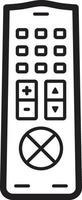 lijn pictogram voor tv vector