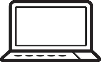 lijn pictogram voor laptop