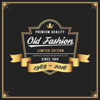 Old fashion frame & label ontwerp voor Apparel Whiskey Wine Jeans vector