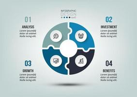 zakelijke of marketing diagram infographic sjabloon.