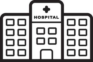 lijn pictogram voor ziekenhuis vector