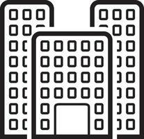 lijn pictogram voor kantoor vector