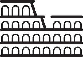 lijnpictogram voor colosseum van rome