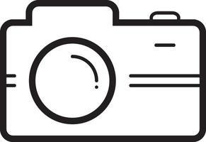 lijn pictogram voor camera vector