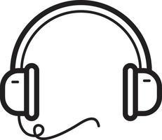 lijn pictogram voor hoofdtelefoon vector