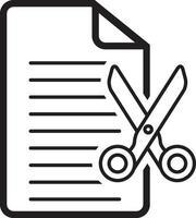 lijn pictogram voor knippen