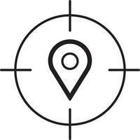 lijnpictogram voor gps