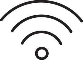 lijnpictogram voor wifi vector