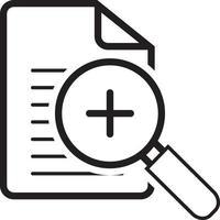 lijn pictogram voor zoom vector