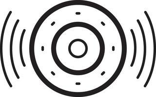 lijnpictogram voor spreker vector