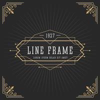 Vintage lijn frame art deco-stijl