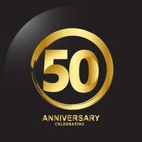 50-jarig jubileum vector sjabloon ontwerp illustratie