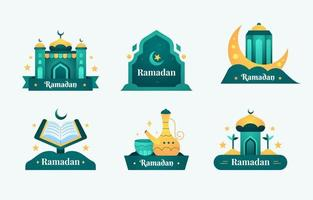 eid mubarak-badges ingesteld