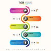 tijdlijn infographics ontwerpsjabloon vector