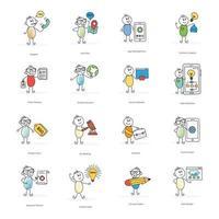 online zakelijke activiteiten stripfiguren