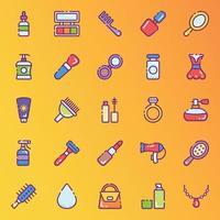 stickers voor schoonheids- en make-upaccessoires vector