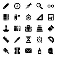 moderne kantoorbenodigdheden stickers