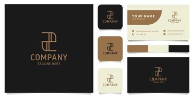 eenvoudig en minimalistisch gouden lijntekeningen letter z-logo met de sjabloon voor visitekaartjes
