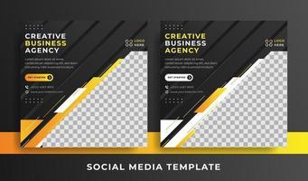 flyer of sociale media sjabloon zakelijke thema
