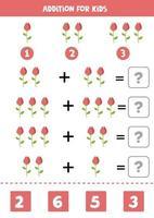 toevoeging voor kinderen met schattige cartoon roos. vector