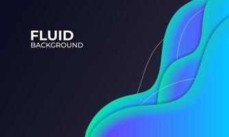blauwe vloeistof achtergrond illustratie voor grafische element