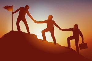 concept van teamwerk en succes vector