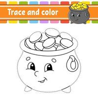 traceer en kleur pot