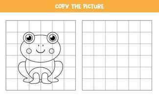 kopieer de afbeelding. schattige kikker. logisch spel voor kinderen.