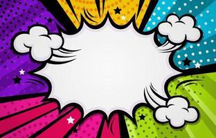 kleurrijke komische halftone achtergrond vector