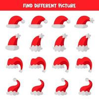 vind een ander beeld van de kerstman hoed.