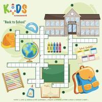terug naar school kruiswoordpuzzel