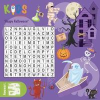 happy halloween woord zoeken kruiswoordraadsel