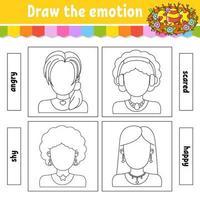 teken de emotie