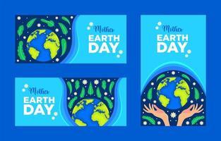 moeder aarde dag banner vector