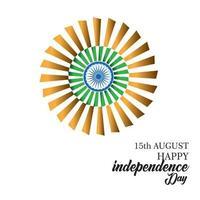 gelukkige dag van de onafhankelijkheid van India vector sjabloonontwerp illustratie