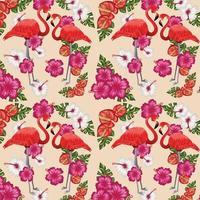 tropische naadloze kunst mooie decoratie sjabloon vector