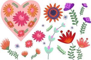 mooie bloemenset vector