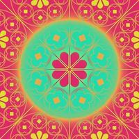 tudor rose herhalend patroon achtergrond koraal aqua vector