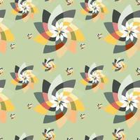 grafische bloemen scatter patroon achtergrond herfst vector