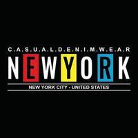 New York City stedelijke kleding typografieontwerp vector