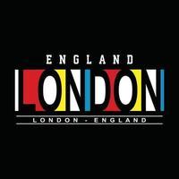 Londen stedelijke kleding typografieontwerp vector