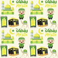 islamitisch naadloos patroon voor ramadan kareem vector