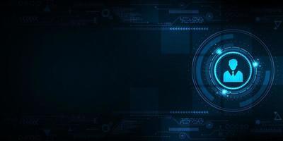 de interface die wordt gebruikt voor identiteitsverificatie. vector