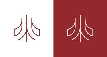 abstracte minimale letter een logo vector