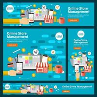 set van digitale marketingbanners vector