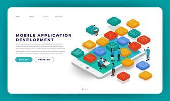 ontwikkeling van mobiele apps vector