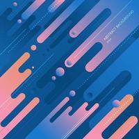 abstracte dynamische compositie gemaakt van verschillende kleuren afgeronde vormen lijnen in diagonaal ritme. vector