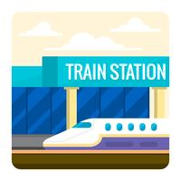 Treinstation vector