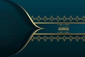 islamitische luxe decoratieve achtergrond ontwerpsjabloon. vector