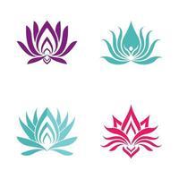 schoonheid lotus logo afbeeldingen instellen vector